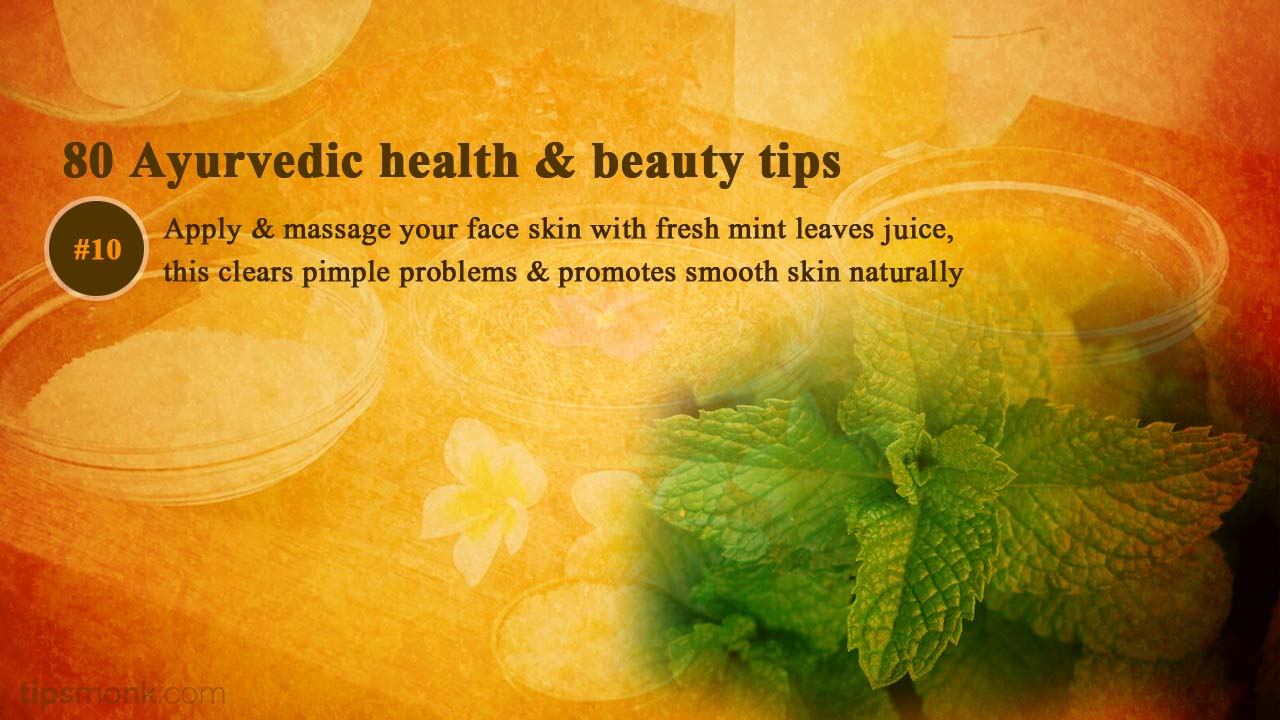 Ayurvedic beauty tips for skin glow - Ayurveda home remedies, treatment image