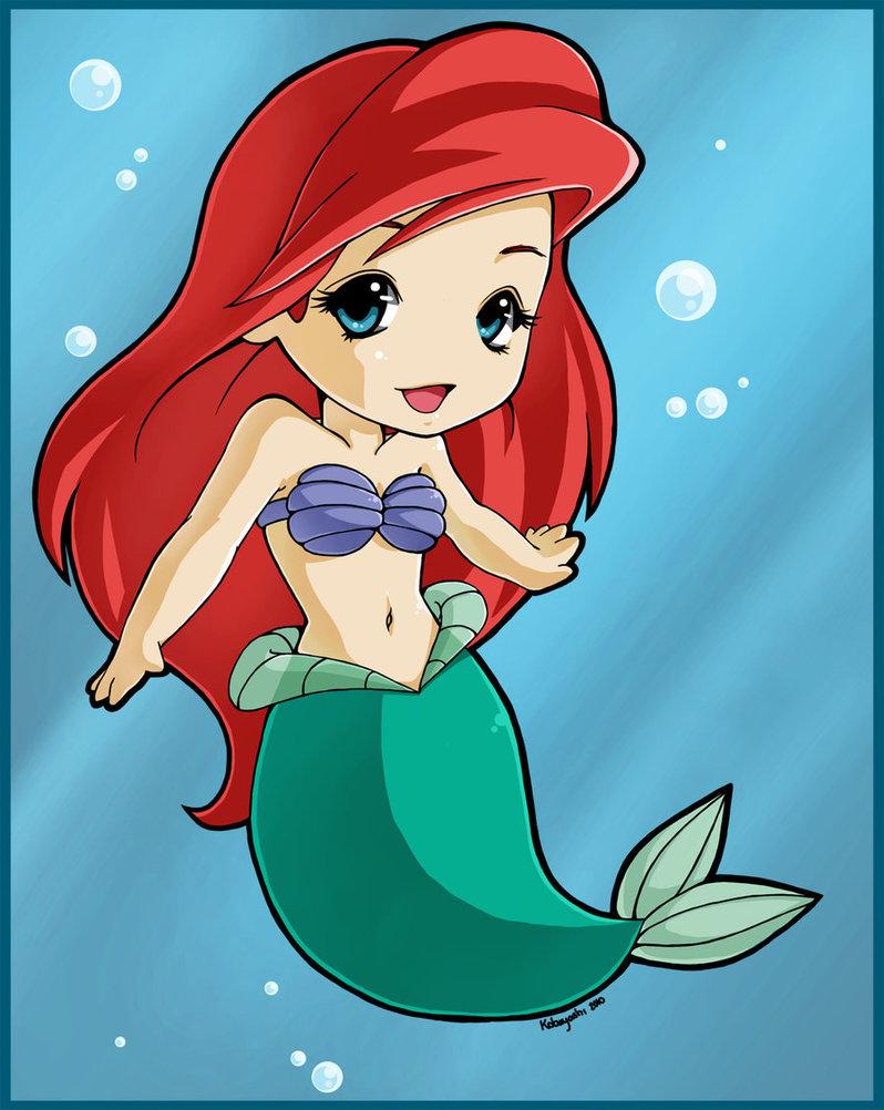princess Ariel chibi Nàng tiên cá công chúa Ariel 2