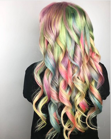 Serah Shirley, hairstylist, Pulp Riot, haircolor, unicorn hair, crazy haircolor, hair dye, interview, First Look Fridays, Sand Art Special haircolor