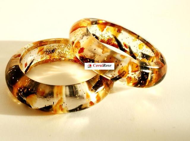 pierścionek z żywicy