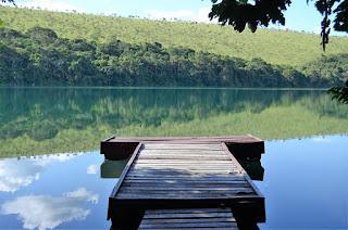 le lac bleu au Congo