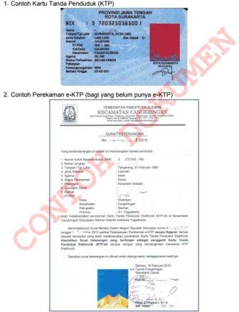 gambar dokumen pendaftaran cpns 2017 KTP