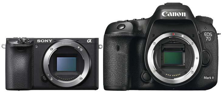 Сравнение Sony A6500 и Canon EOS 7D Mark II