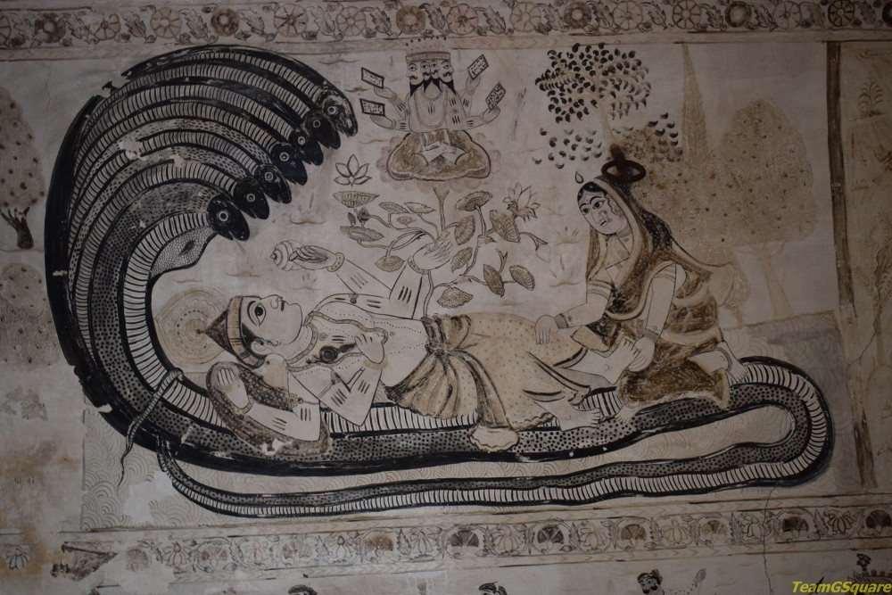 Paintings of Lakshmi Temple, Orchha