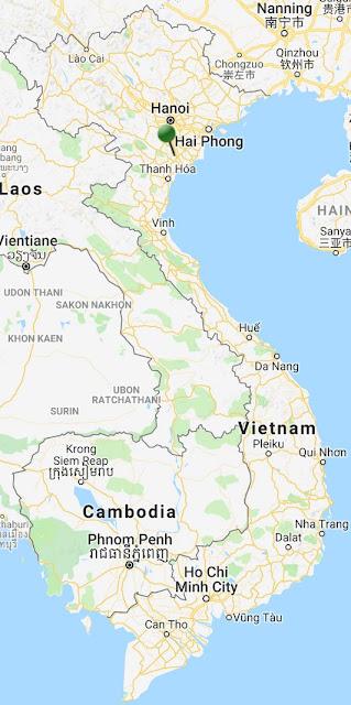 pin point map ninh binh vietnam