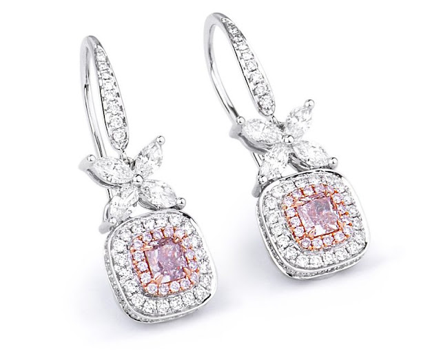 Fancy Pink Diamond Earrings