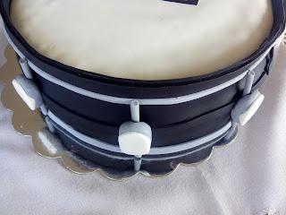Detalle tarta batería
