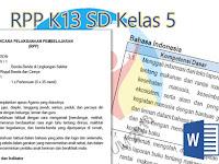 RPP K13 SD Kelas 5 Revisi Baru 2017 2018