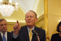 Republican Senator Lamar Alexander, chair of Senate appropriations subcommittee on energy and water development.  (Credit: AMSF2011/Flickr) Click to Enlarge.