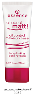 Essence All About Matt! - oil control make-up base