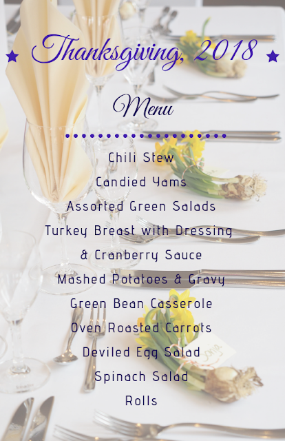 thanksgiving menu to print