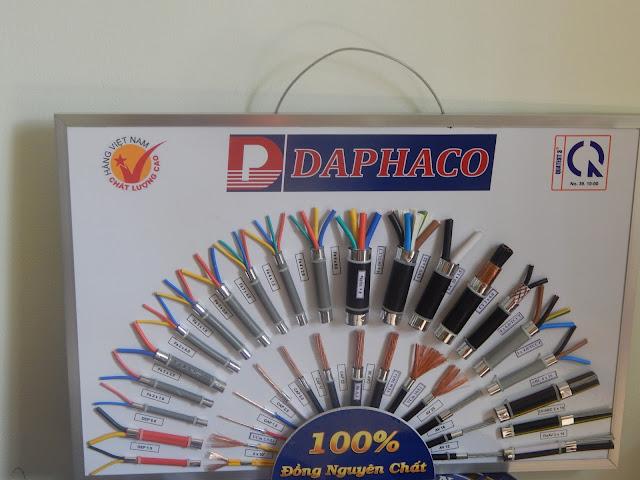 Cung cấp dây cáp điện DAPHACO, LION, CADIVI, … với giá tốt nhất