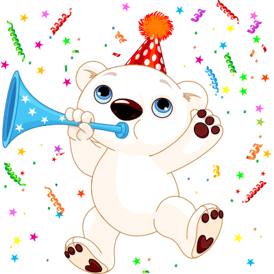 Birthday Polar Bear