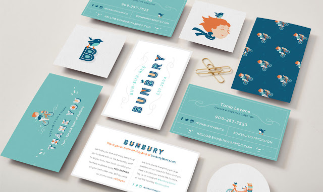 Bunbury, Aeolidia, stationery, business cards, branding, logo design