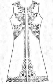 Mens panjabi sketch on paper/gents sherwani pattern pencil