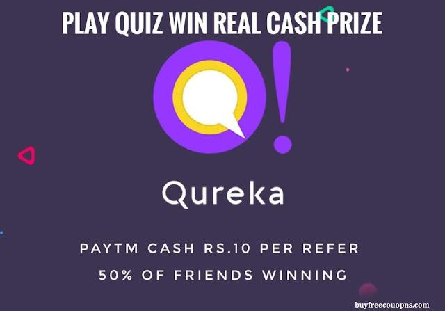 Qureka App Referral Code to Get Free Paytm Cash