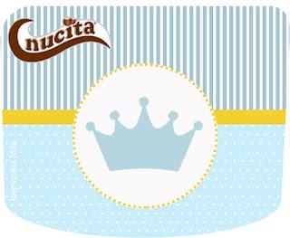 Etiqueta Nucita para Imprimir Gratis de Corona Celeste.