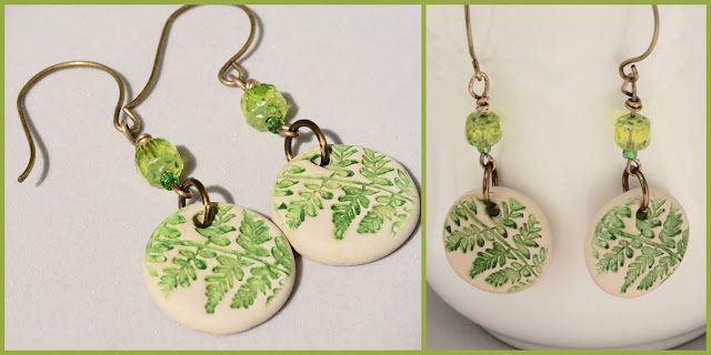 Fern earrings by BayMoonDesign