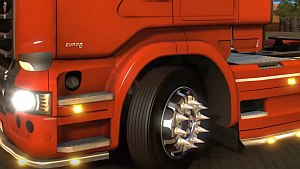 Scania wheels with spikes