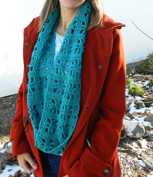 crochet cube infinity scarf free pattern