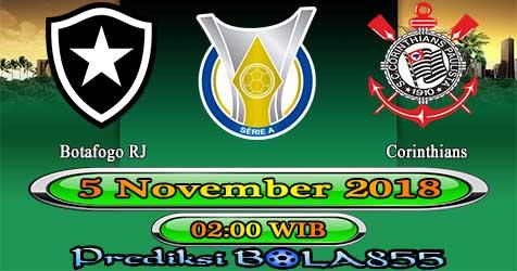 Prediksi Bola855 Botafogo RJ vs Corinthians 5 November 2018