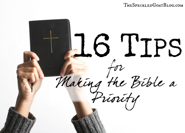 consistently read bible tips to help prioritize