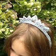 crochet tiara headband