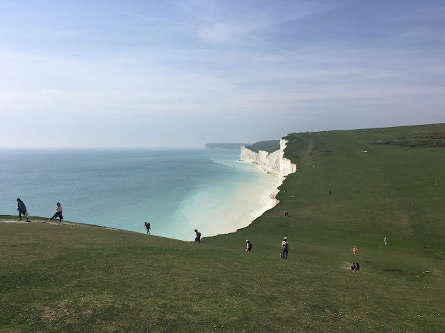 south downs way at seven sisters