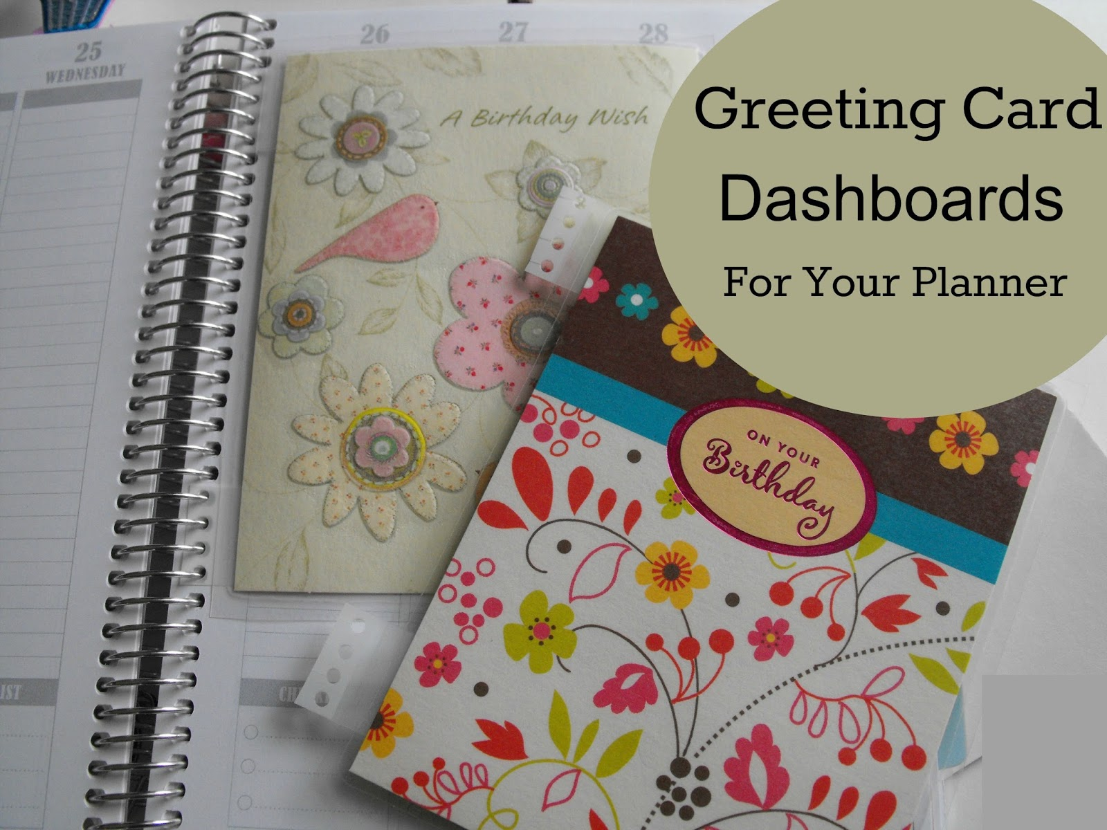 recycled greeting card dashboards
