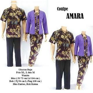 model kebaya batik pasangan Amara ungu