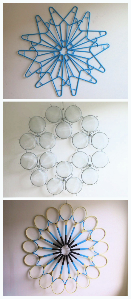 coat hanger craft ideas upcycle sculpted hangers strainers and rackets the 3667