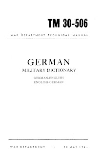 German Military Dictionary German-English, English-German