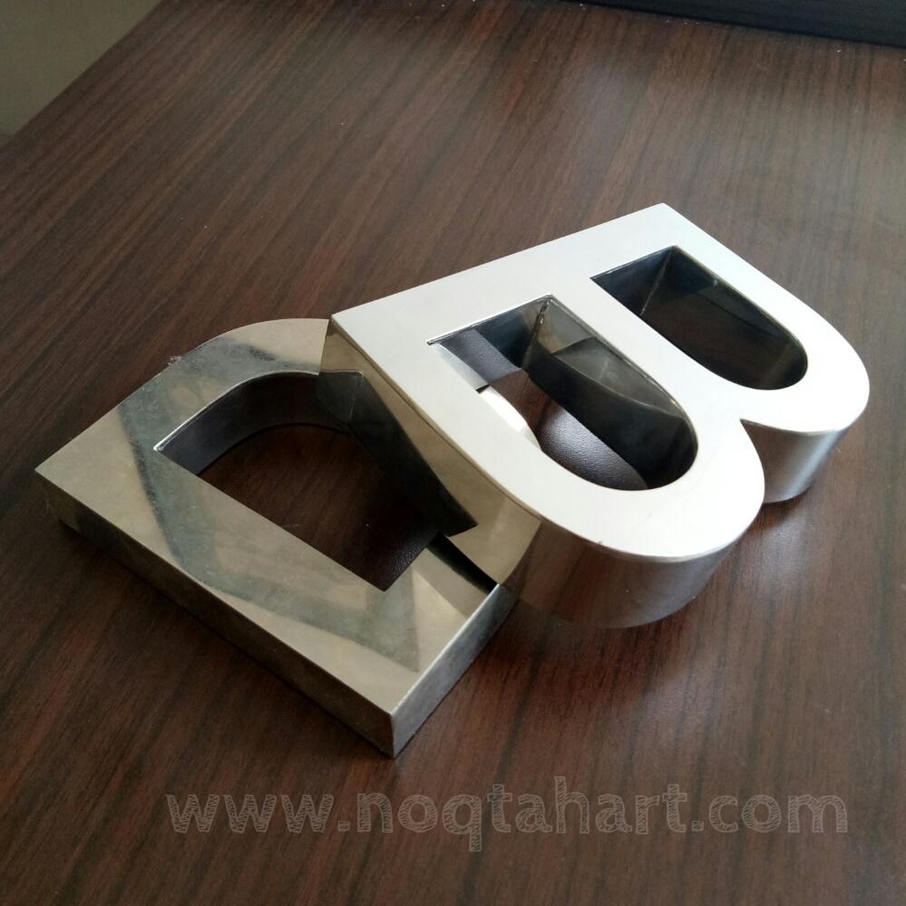 huruf timbul stainless steel