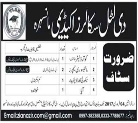 The Little Scholar Academy Mansehra jobs Latest