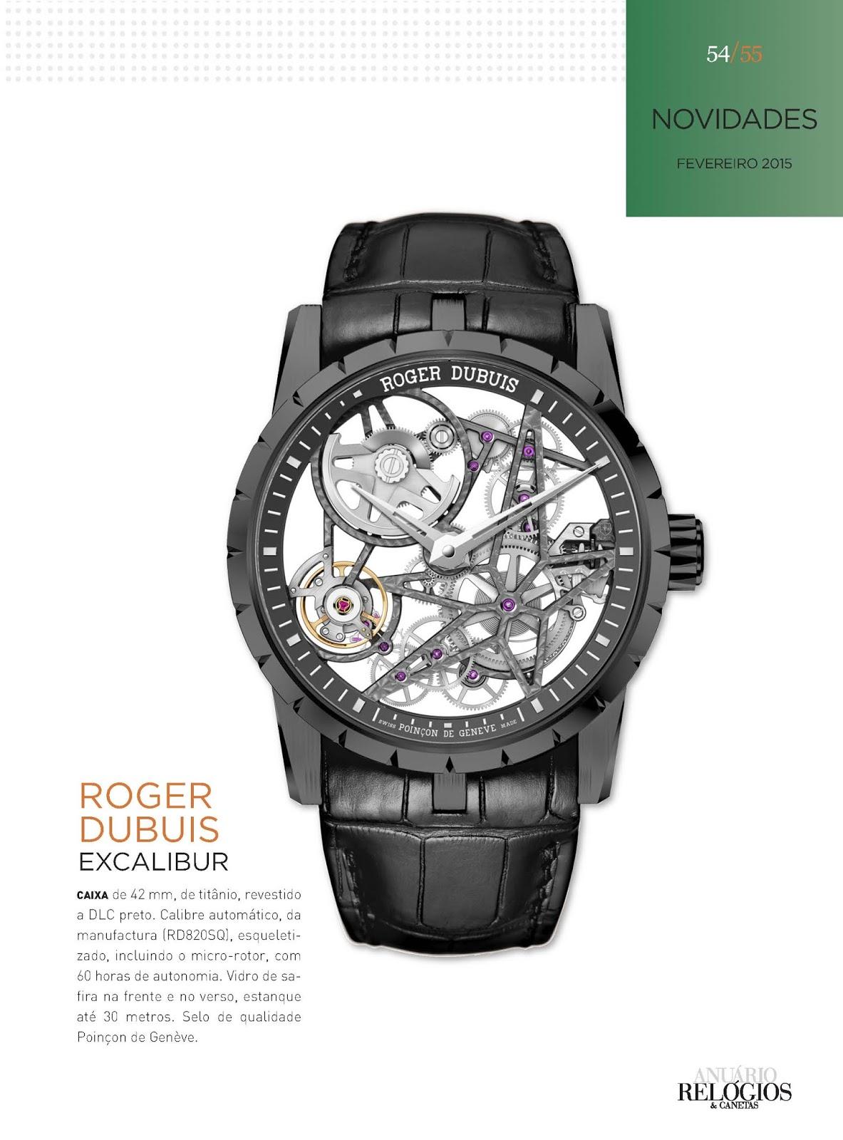cbac685f5df Relógios   Canetas online - relógio Roger Dubuis Excalibur Esqueleto