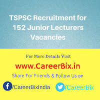 TSPSC Recruitment for 152 Junior Lecturers Vacancies