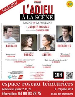 L'Adieu à la scène, Racine VS La Fontaine