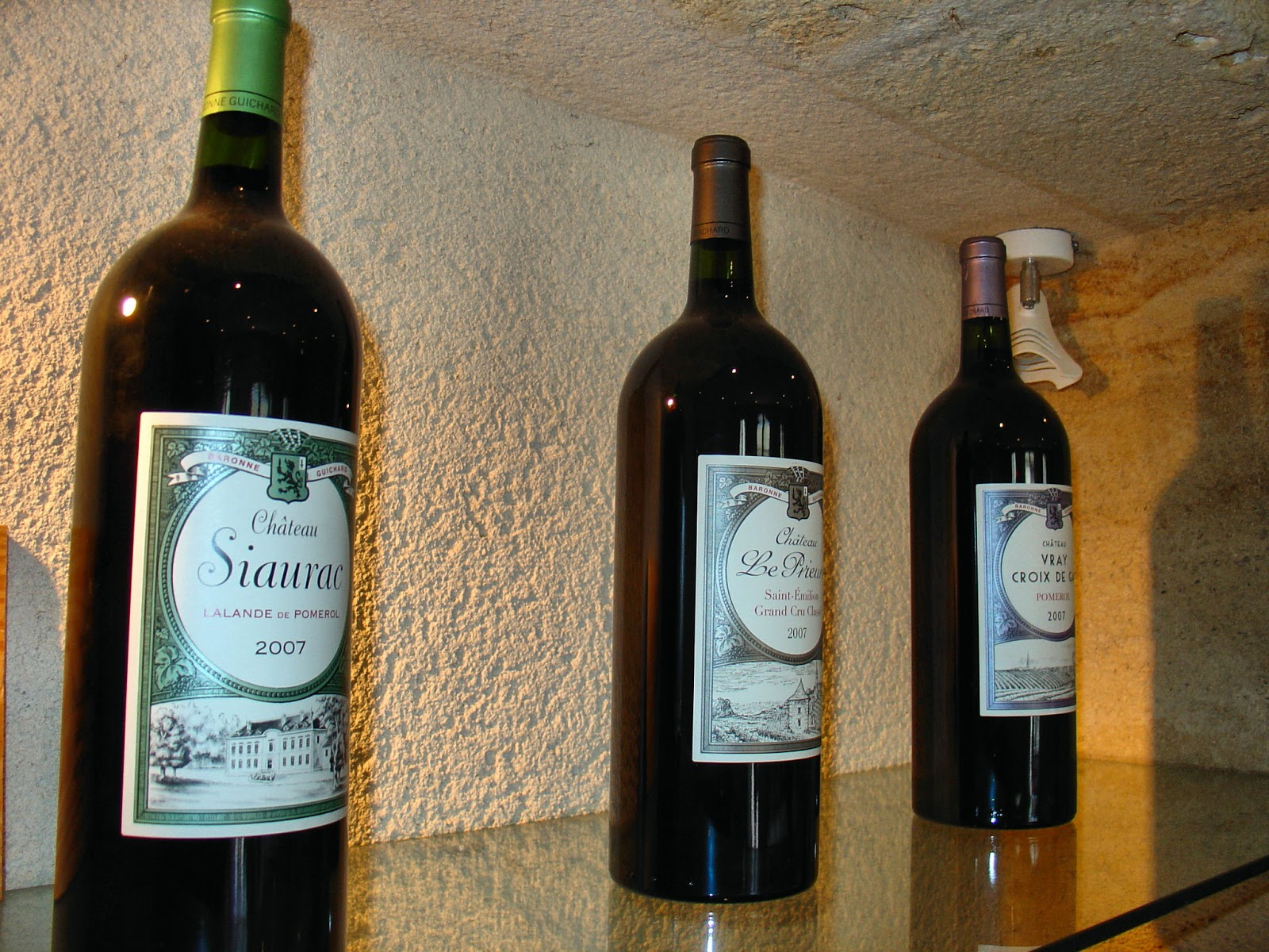 The Chateau Siaurac's vintages include Chateau Siaurac, Chateau Vray Croix de Gay and Chateau Le Prieuré.