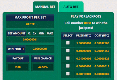 freebitco.in bicoin game bet jogo jackpot hi low