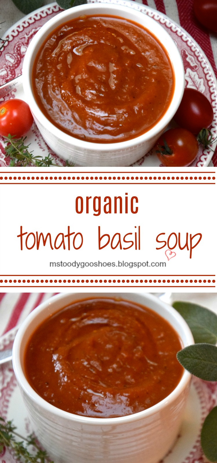 Wegman's Organic Tomato Basil Soup is low-fat, low-calorie and easy to make! | Ms. Toody Goo Shoes