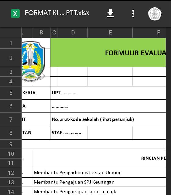 Download Format Administrasi Penilaian Kinerja GTT/PTT