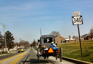 Amish Family in buggy - Lancaster, PA