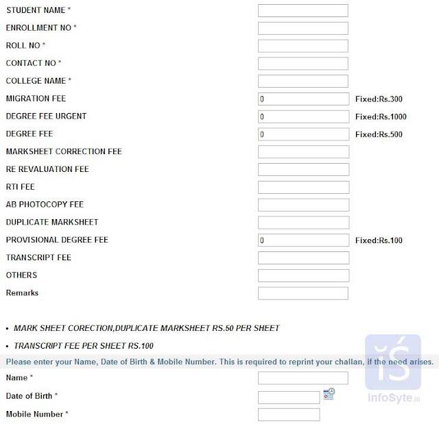 CSVTU fees Online