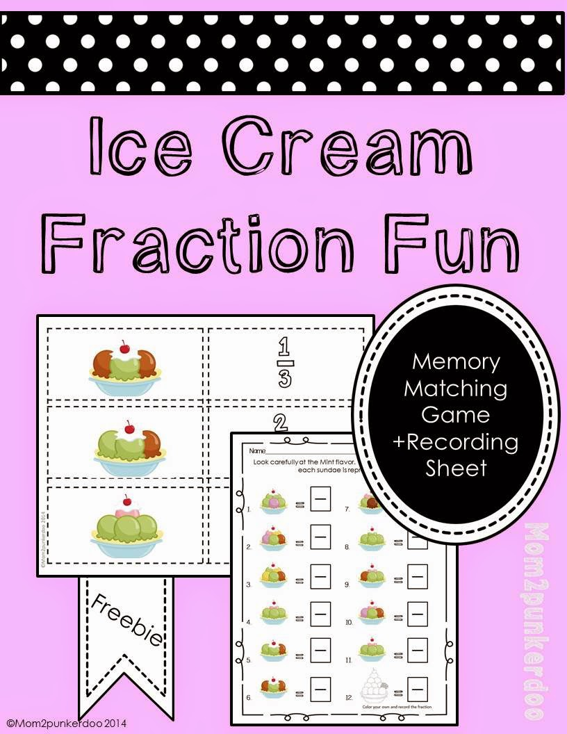 http://www.teacherspayteachers.com/Product/Fraction-Fun-Ice-Cream-Sundae-Matching-Game-1197593