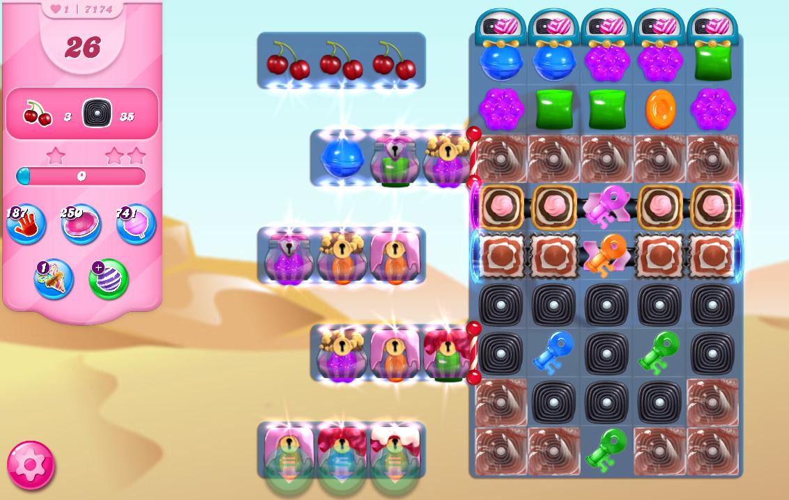 Candy Crush Saga level 7174