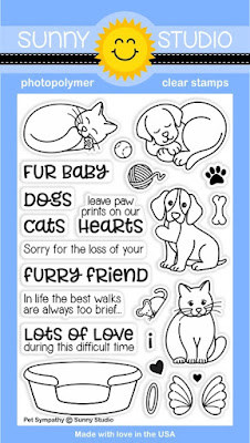 Sunny Studio Stamps: Introducing Pet Sympathy 4x6 Photopolymer Clear Stamp Set