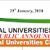 New List of Illegal Universities [Degree Mills] Shut Down by NUC - 2018
