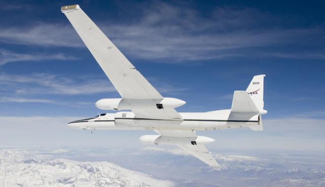 A Nasa possui diversos modelos de aviões de pesquisas