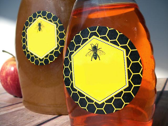 honey bottle labels
