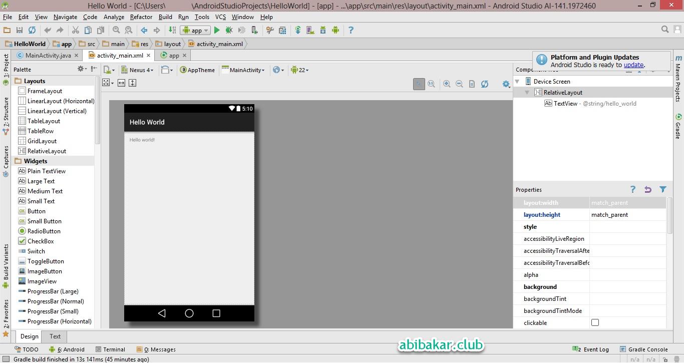 Pelajari Opsi Android Studio
